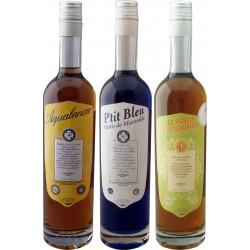 Aqualancan, Ptit Bleu et Pastis du Liquoriste : les 3 pastis et anis