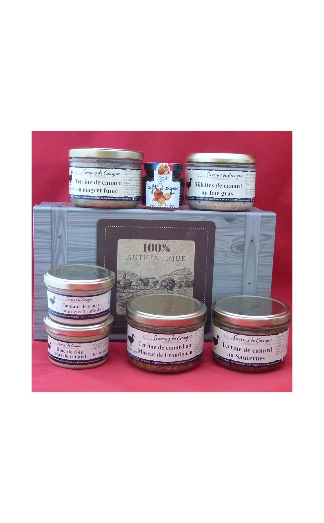 Coffret authentique 7 terrines canard, rillettes, foie gras