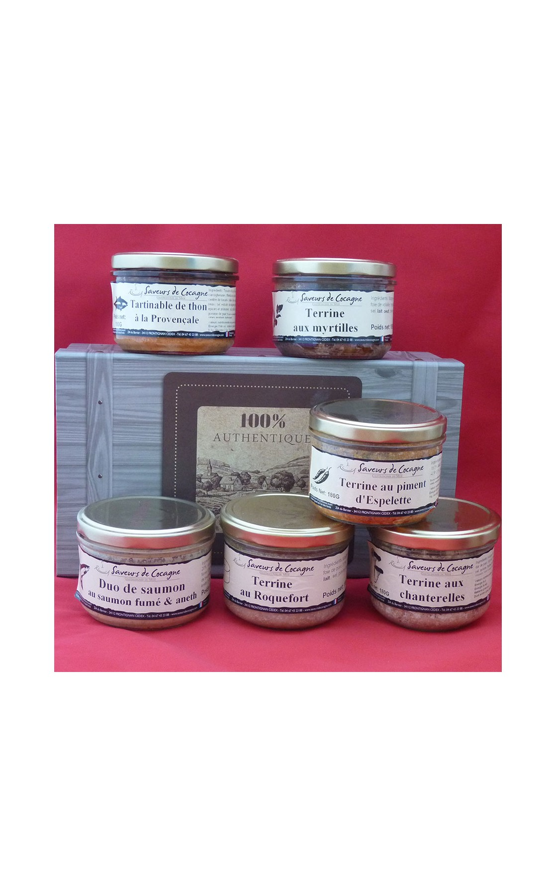 Coffret authentique 6 terrines originales
