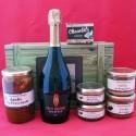 Coffret authentique apéritif pétillant, bloc de foie gras, daube provençale, terrines et chocolats