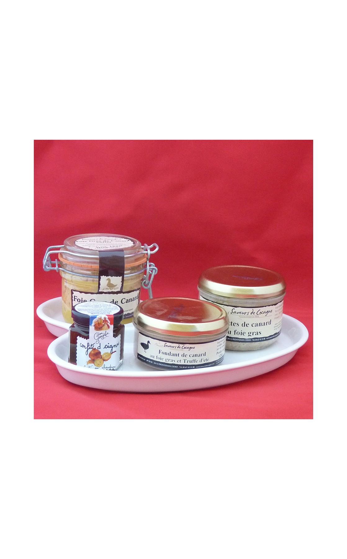 Assiette porcelaine foie gras n°1