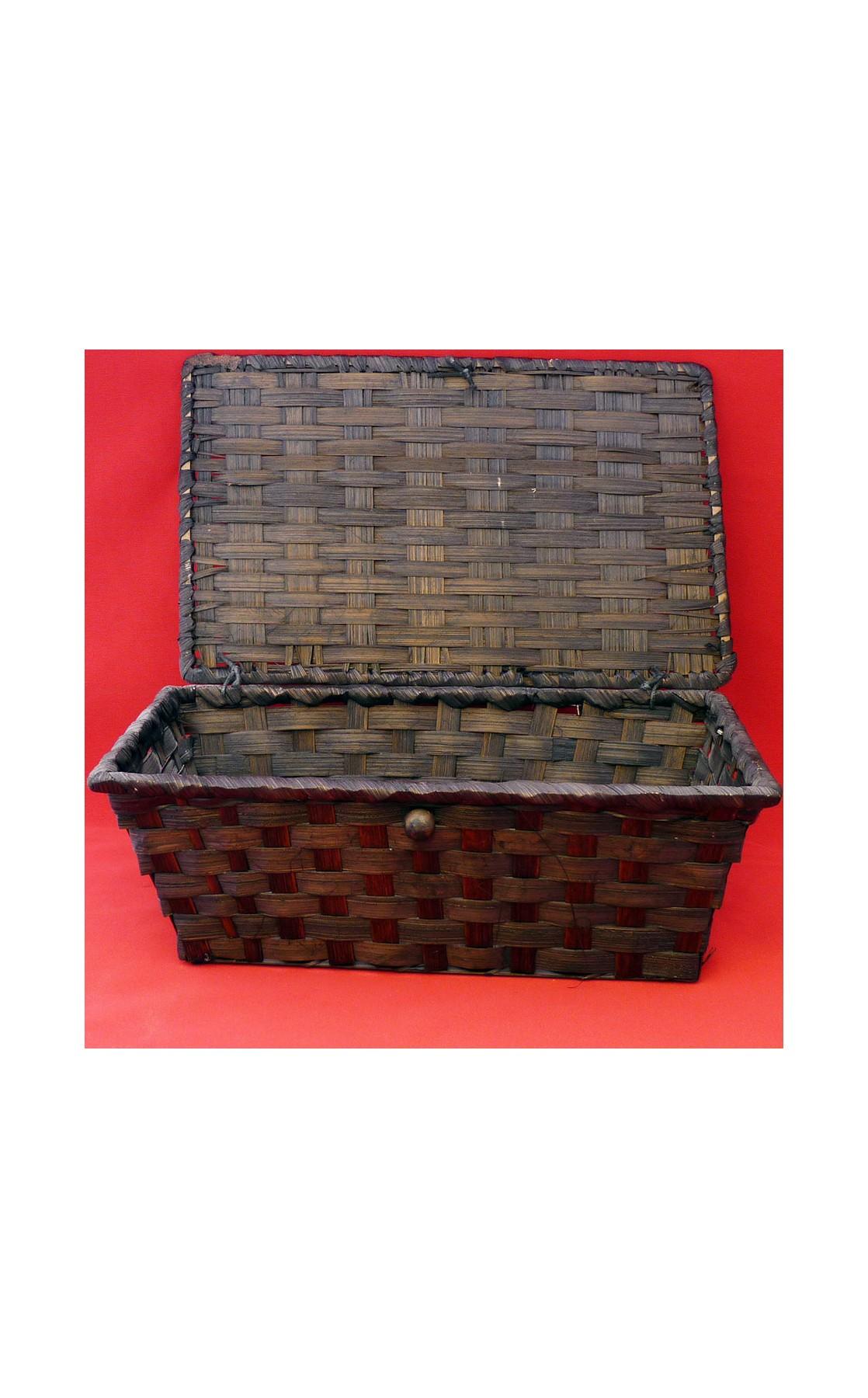 Coffret bambou rectangle coloris marron 26x16x10 cm