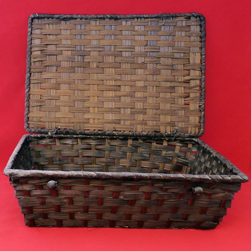 Coffret bambou rectangle coloris marron 33x23x11 cm