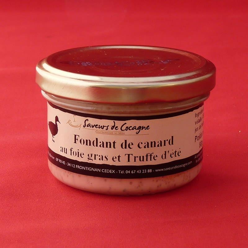 Fondant de canard au foie gras et truffe d'été 80g