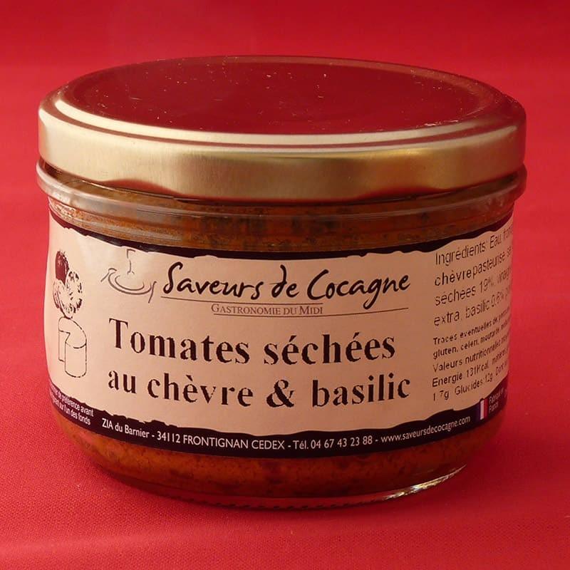 Tomates séchées au chèvre et basilic 180g