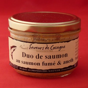 Duo de saumon au saumon fumé et aneth 180g