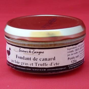 Fondant de canard au foie gras et truffe d'été 130g