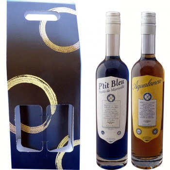 Coffret Duo P'tit Bleu Aqualanca en 70cl