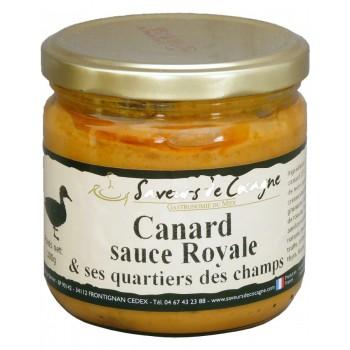 Canard sauce royale et ses quartiers des champs 300
