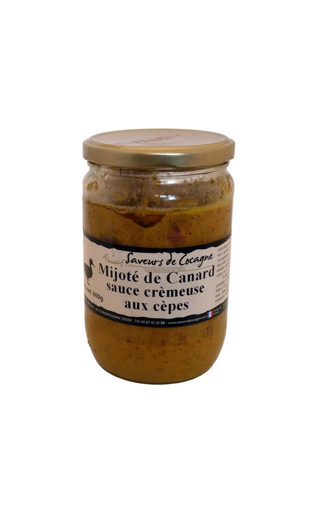 Mijoté de Canard sauce crémeuse aux cèpes 600g