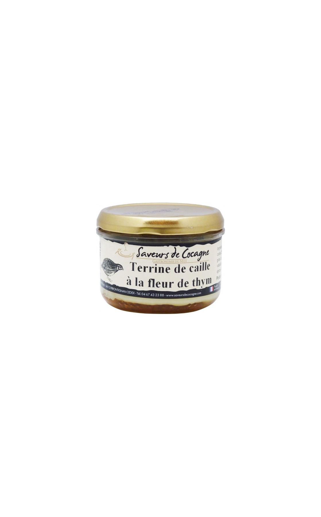 Terrine de caille à la fleur de thym 180g
