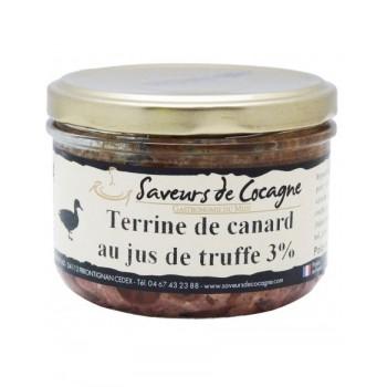 Terrine de canard au jus de truffe 3% - 180g