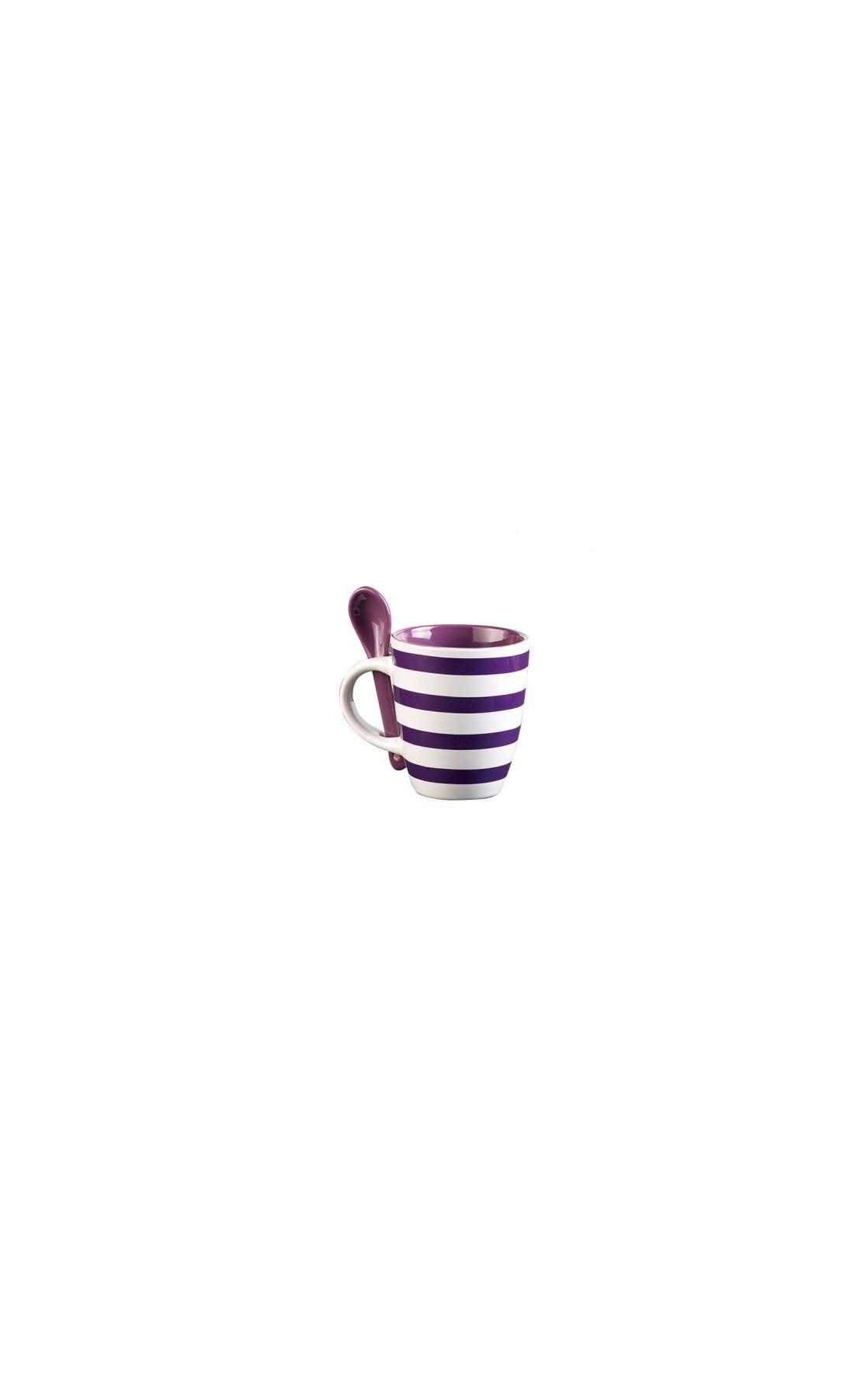 Lot de 2 mugs en céramique avec cuillères