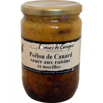 Poêlon de canard sauce aux raisins et aux morilles - 600g