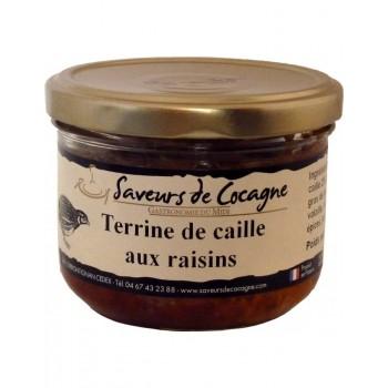 Terrine de caille aux raisins 180g