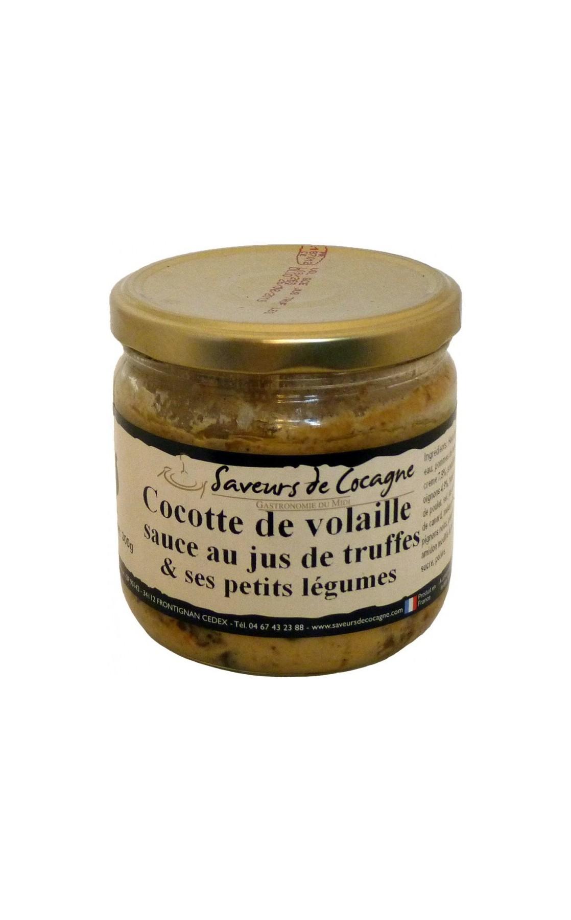 Cocotte de volaille sauce au jus de truffes et ses petits légumes - 300g