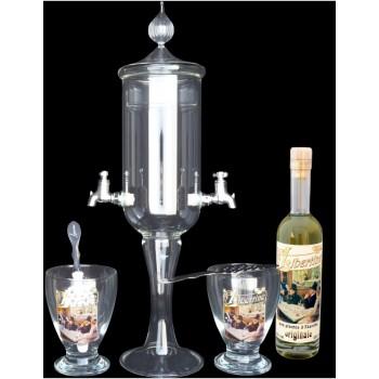 Service petite Fontaine à absinthe 2 robinets Originale